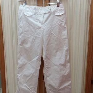 Loft Ann Taylor White Cotton Spandex Pants Size 0P